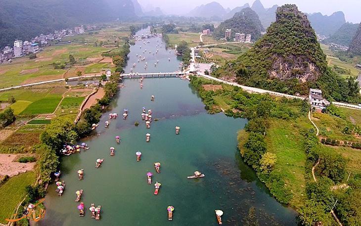 شهر گویلین در چین و رودخانه لی