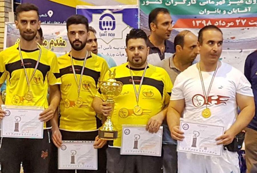 قهرمانان مسابقات فوتبال رومیز کارگران کشور معین شدند