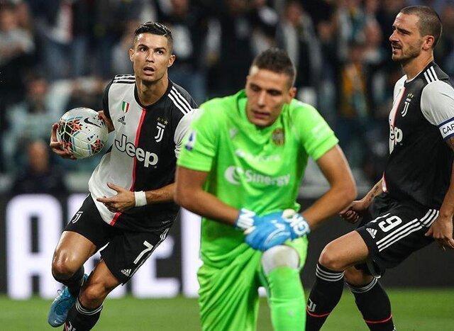 رونالدو پیروزی را برای یوونتوس به ارمغان آورد