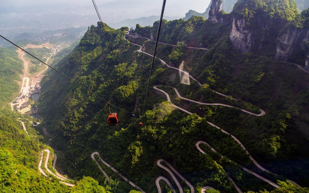 کوهستان شگفت انگیز تیان من در چین