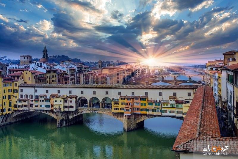 پل وکیو؛از مهم ترین جاذبه های فلورانس ایتالیا