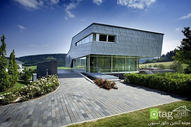 آنالیز نمای خارجی ویلا با معماری پیشرفته بهمراه چیدمان داخلی