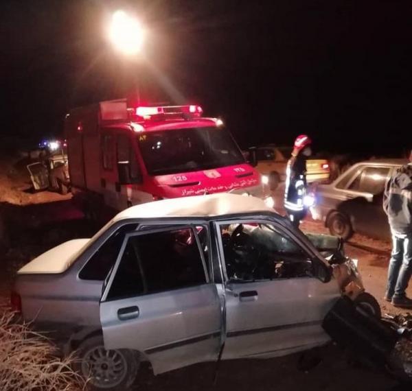 دو کشته در تصادف جاده قلات