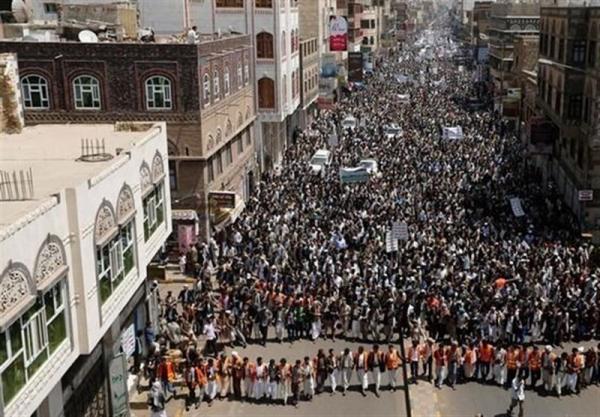 یمن، تظاهرات گسترده مردم در استان های مختلف علیه متجاوزان، سعودی و آمریکا نماد واقعی تروریسم هستند