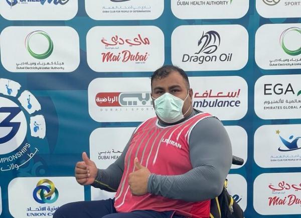 نخستین طلای ایران با رکوردشکنی امیری در مسابقات معلولان جایزه عظیم امارات
