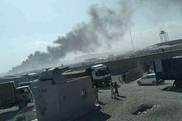 وقوع حریق در گمرک مرزی افغانستان-ایران، آتش مهار شد