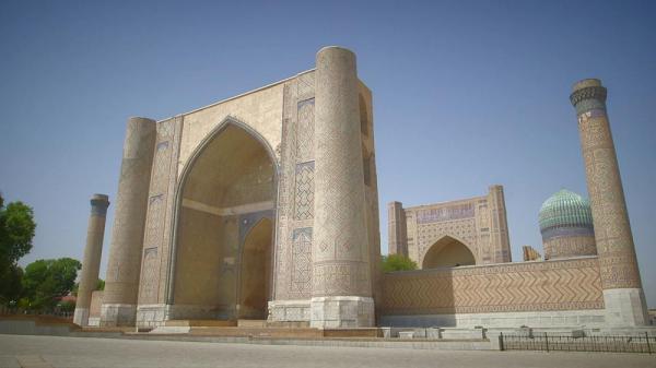 کارت پستال از ازبکستان؛ مسجد بی بی خانم