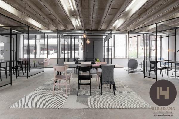 ویزای آمریکا: طراحی داخلی و بازسازی دفتر شِرکاس در نیویورک آمریکا